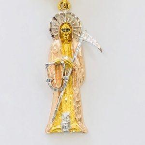 Accessories gold filled santa muerte pendant with chain poshmark accessories gold filled santa muerte pendant with chain mozeypictures Images
